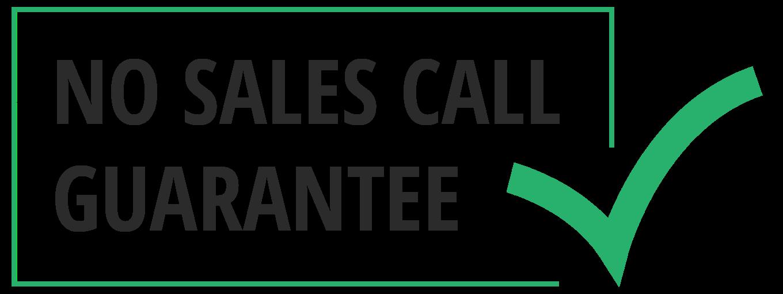 No-Sales-Call-Guarantee