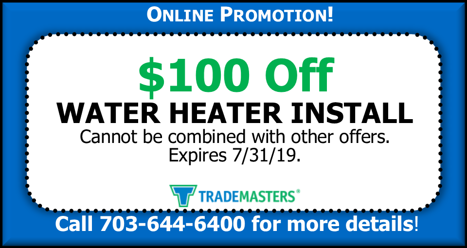 Water Heater Install Coupon