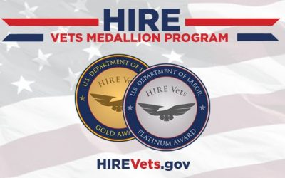 Trademasters Service, Inc. Recognized with HIRE Vets Medallion Award