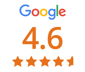 4.6 out of 5 stars google review score